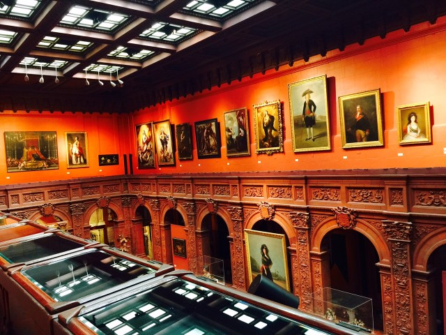 The 2nd floor of the Hispanic Society Museum and Library.