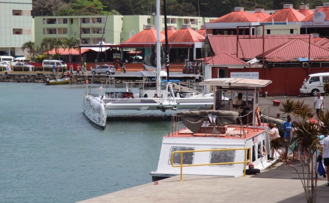 The marina at Castries, St. Lucia.