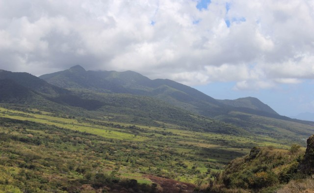 The landscape of St. Kitts.