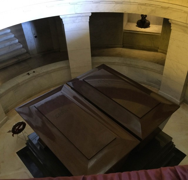 The tomb of General Grant and his late wife.