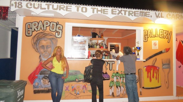 Booth #18 won 1st place exemplifying the theme of Grapo's Art Gallery in Carnival Village
