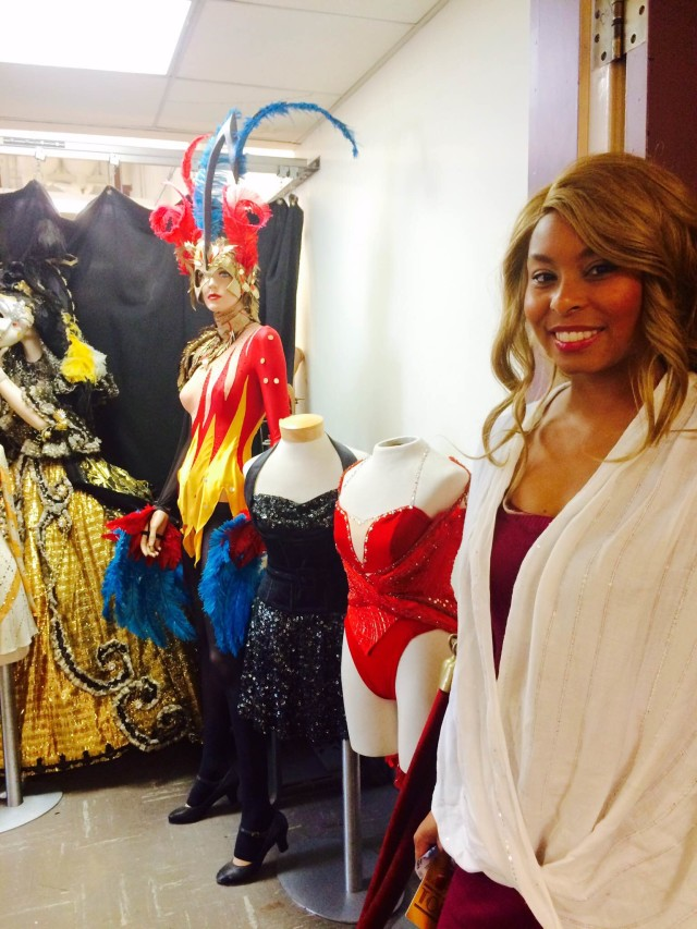 The Rockettes' costume room.