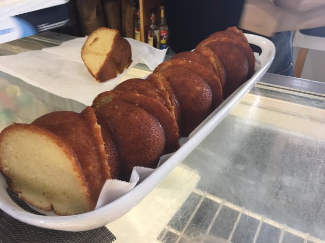 Cruzan Rum Cake at My Brother's Workshop.