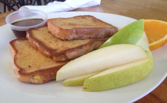 French toast and green apples.