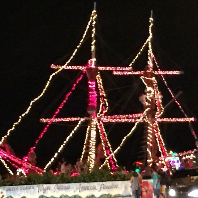 The Christmas Lights Boat Show.